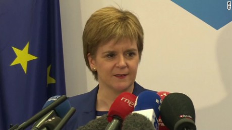 Brexit: Scottish First Minister visits Brussels
