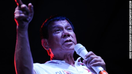 Philippines President Duterte: Political rival a 'robber' and 'immoral woman'