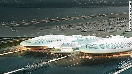 Brittania Airport concept London UK