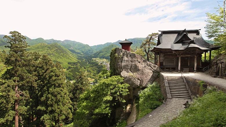 Japan's Yamadera Risshakuji Temple