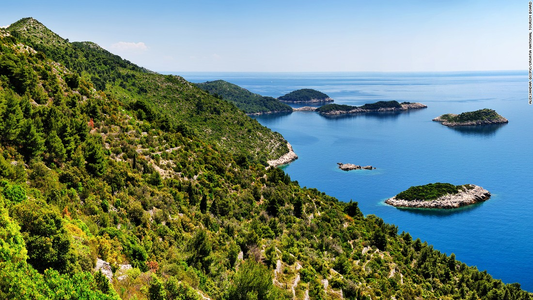 Mljet is accessible by boat from Dubrovnik harbor. It's home to the 3,100-hectare Mljet National Park, with lakes and indigenous forests filled with hiking trails.