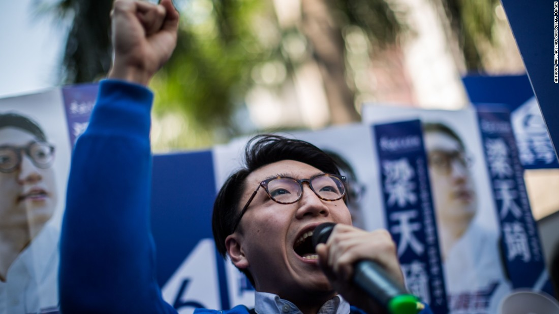 "<strong>Localists look to LegCo: </strong>Edward Leung of Hong Kong Indigenous, which advocates for independence from China, wins 15% of the vote in a by-election, coming third. He hails the result as the rise of localism as a ""third power"" in Hong Kong politics."
