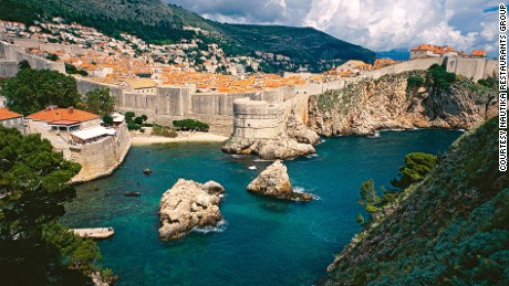 "The famous Nautika Restaurant (on the left) has a front-row seat to the setting of King's Landing in ""Game of Thrones."""