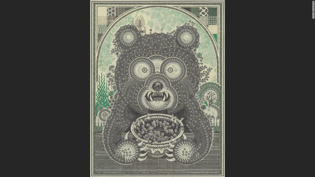 "However, most of his works are created using U.S. one dollar bills. ""I stumbled onto a niche benefit using the one dollar bill,"" Wagner says. ""Also, the one dollar is not precious, and because I can get more, I have an infinite supply and don't get distracted with other possibilities."""