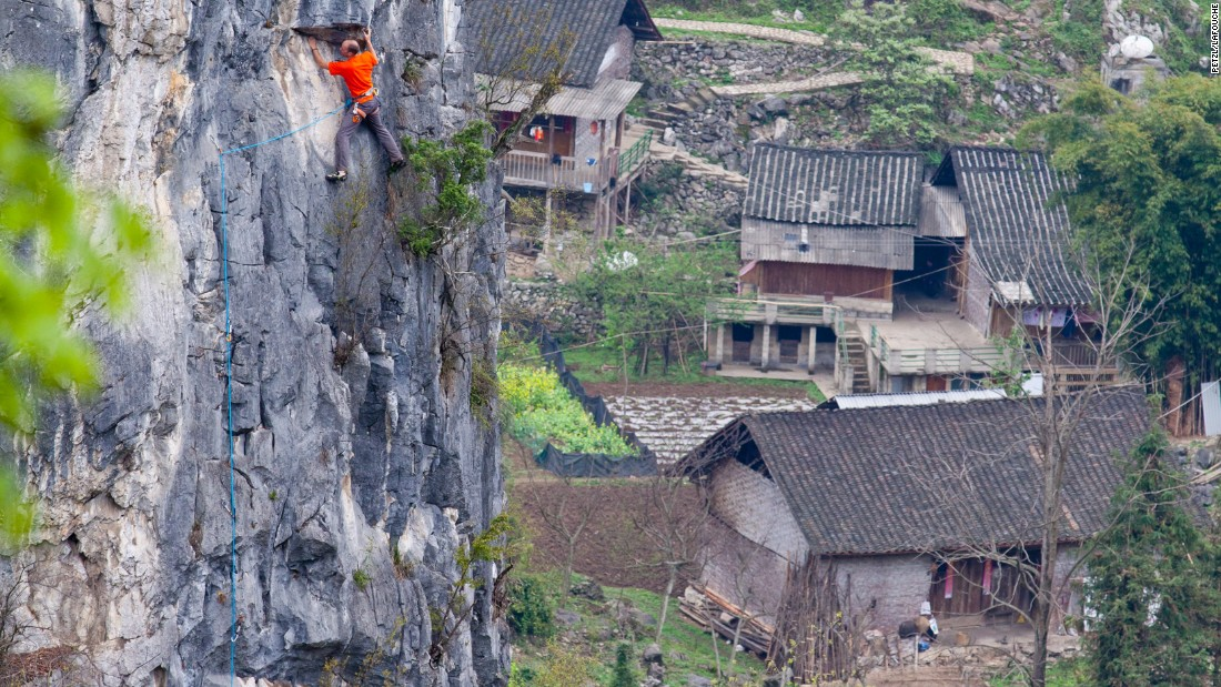 Getu River National Park in Guizhou, southwestern China, is emerging as a major rock climbing destination.