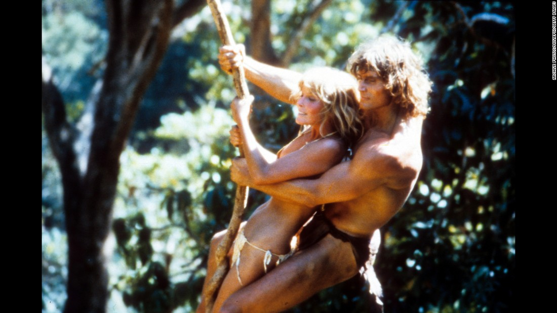 "The Tarzan franchise pretty much went dark in the '70s, but returned for a sexy swing with Bo Derek and Miles O'Keeffe in 1981's ""Tarzan, The Ape Man,"" panned by the critics, despite the presence of the esteemed actor (and future Dumbledore) Richard Harris as Jane's father.  Film critic Leonard Maltin called the movie ""deranged."""