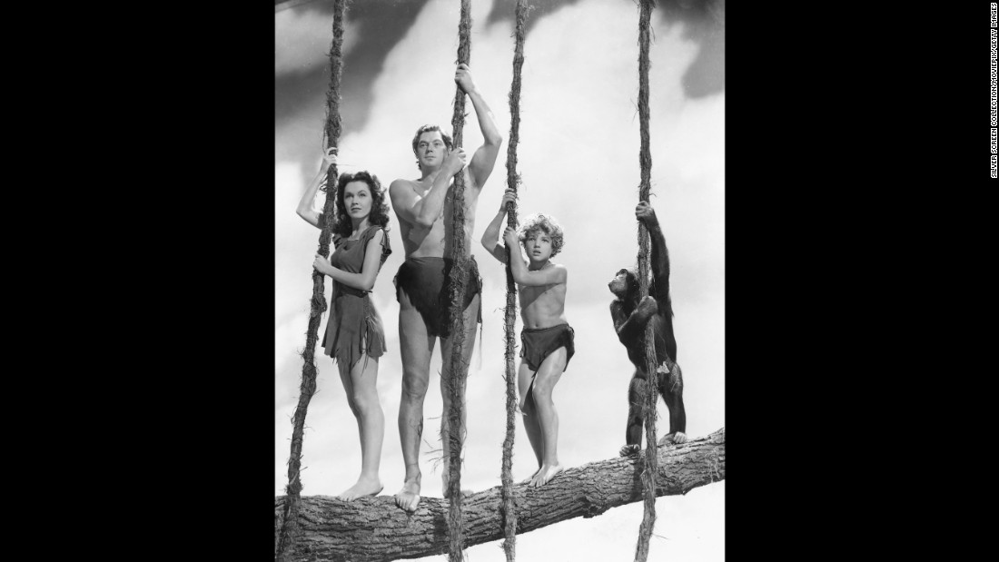 "Here he is, the classic Hollywod Tarzan: Olympic swimming champion-turned-actor Johnny Weissmuller in 1941's ""Tarzan's Secret Treasure,"" also starring Maureen O'Sullivan as Jane and Johnny Sheffield as Boy. Weissmuller appeared in a dozen Tarzan films, first for MGM, then RKO. He <a href=""https://www.youtube.com/watch?v=MwHWbsvgQUE"" target=""_blank"">owns the classic Tarzan yell.</a>"