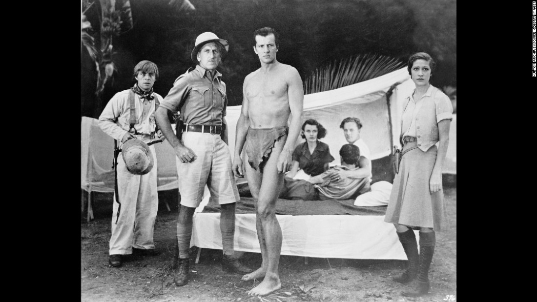 """American actor Herman Brix  (later known as Bruce Bennett), plays Tarzan in 1938's """"Tarzan and the Green Goddess,"""" a cloak-and-dagger adventure (there's a super-explosive hidden in an idol) set in Guatemala. It features perhaps<a href=""""https://www.youtube.com/watch?v=JxdCLobQnaQ"""" target=""""_blank""""> the most absurd Tarzan yell ever. </a>"""