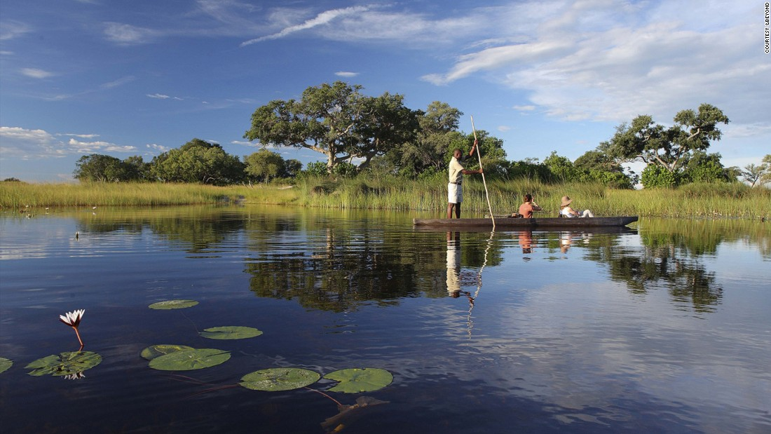 "<strong>Okavango, Botswana:</strong> ""Life slows down to a different pace here,"" says Joss Kent, CEO of the andBeyond luxury travel company. ""Guests have time to absorb even the tiniest and most intricate details of this incredible ecosystem.""<br />"