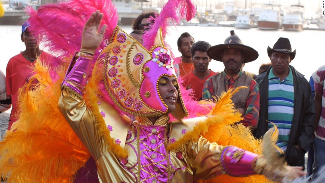 "In film ""Tchindas"", directors Marc Serena and Pablo Garcia Perez de Lara traveled to Sao Vicente to explore the lives of the transsexual community in the city of Mindelo in the run up to its annual carnival."