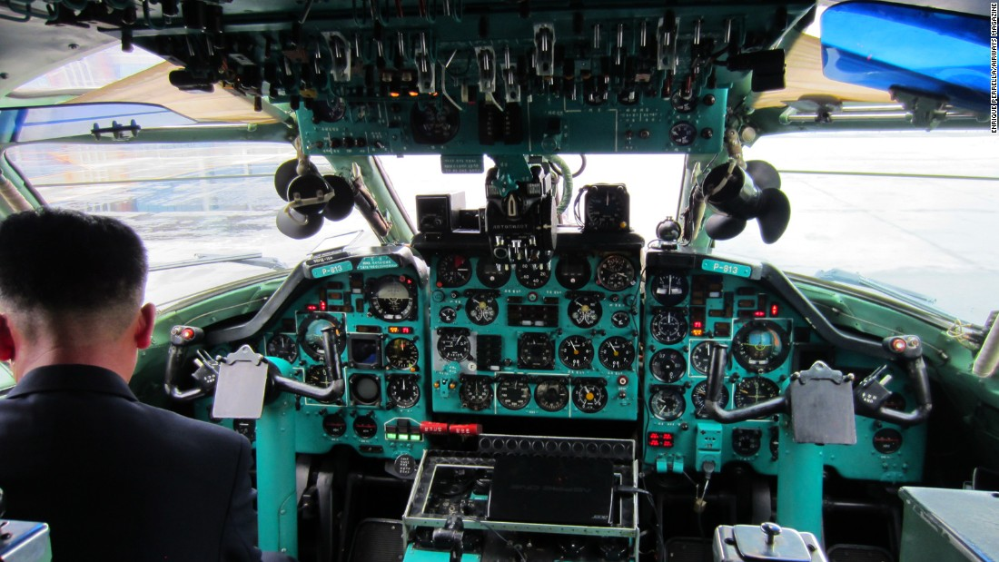 The 134's cockpit was incredibly well-kept, despite its age.