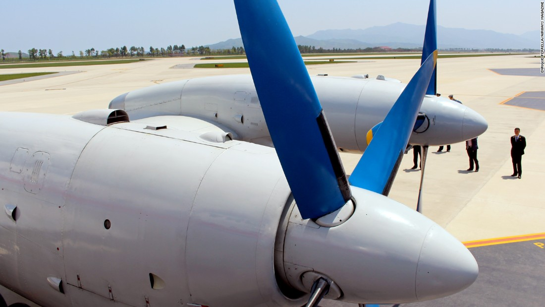 Check out its blue, Soviet Cold War-era propellers. During flight, they were incredibly quiet and stable.