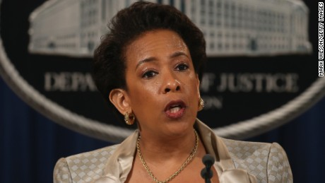 Attorney General Loretta Lynch speaks about Baltimore during a news conference at the Justice Department May 8, 2015 in Washington, DC. Attorney General Lynch announced the Justice Department will launch a probe into possible civil rights violations involving the Baltimore Police Department.