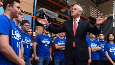 Prime Minister Malcolm Turnbull on the last day of the campaign.