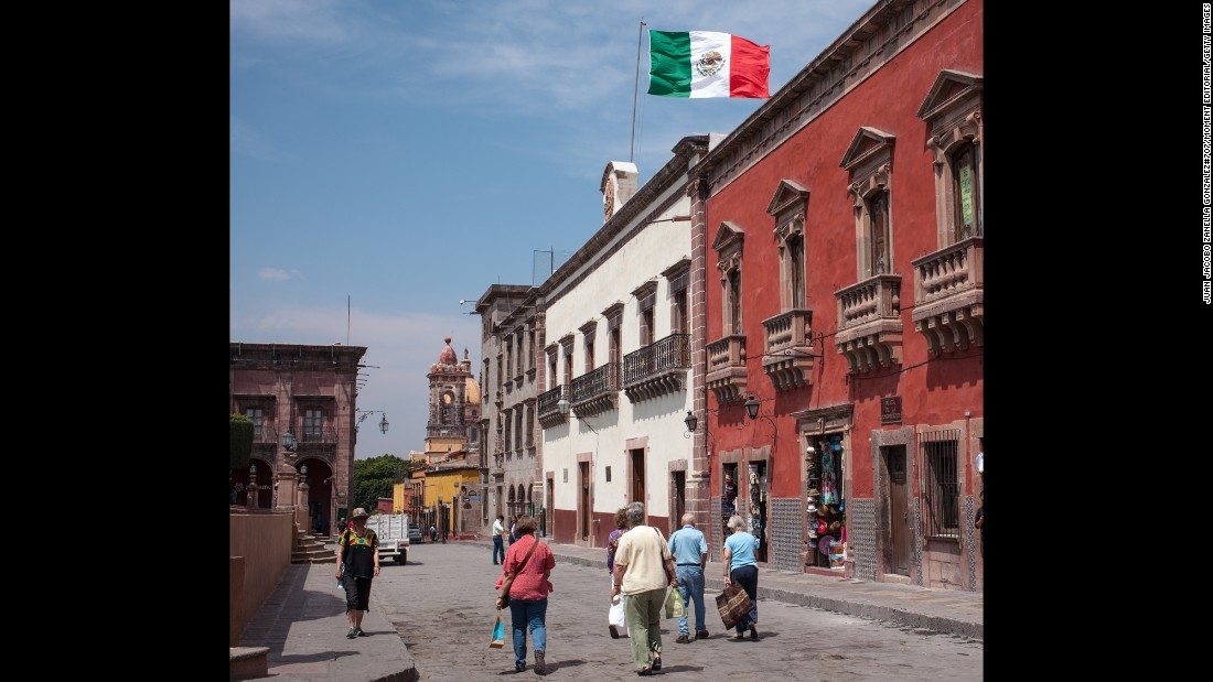 "A UNESCO World Heritage Site, San Miguel de Allende in Mexico ""is the most charming town, with cobblestone streets and colonial architecture,"" says Clemence. ""There's a vibrant art scene here, and you can eat everything from traditional Mexican fare to Asian fusion food."""