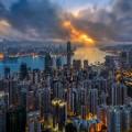 hk beauty skyline harbor