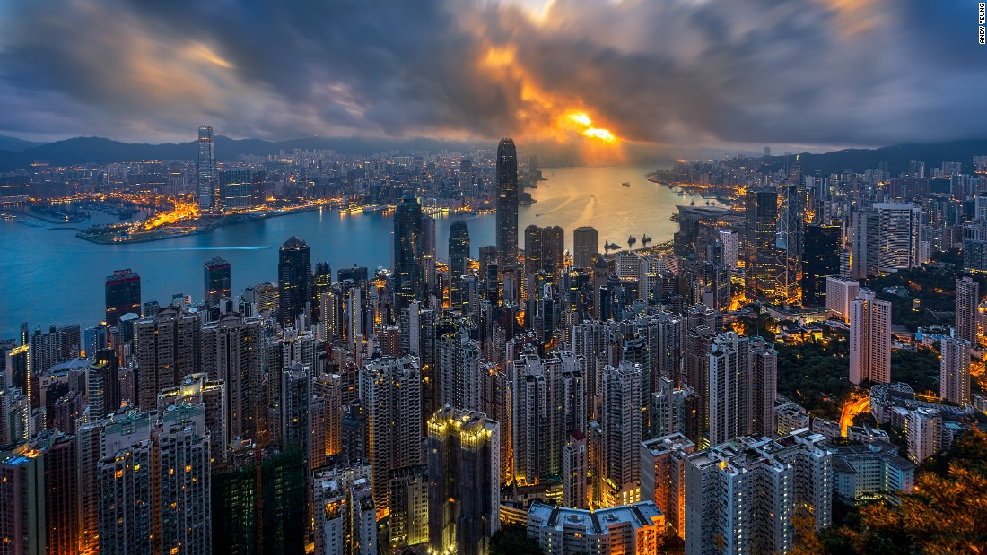 "Over-photographed, maybe, but we still can't get enough of it. Hong Kong-based photographer Andy Yeung snapped this beautiful pic of Victoria Harbor during golden hour. Click <a href=""/2016/04/25/travel/aerial-hong-kong-photography/index.html"" target=""_blank"">here</a> for his tips on how to capture Hong Kong in beautiful, original shots. Visit his <a href=""http://www.andyyeungphotography.com/"" target=""_blank"">website</a> for more of his work."