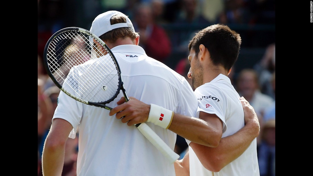 Djokovic, a three-time Wimbledon winner, was magnanimous in defeat to a player ranked 40 places below him and seeded 28th for the tournament.