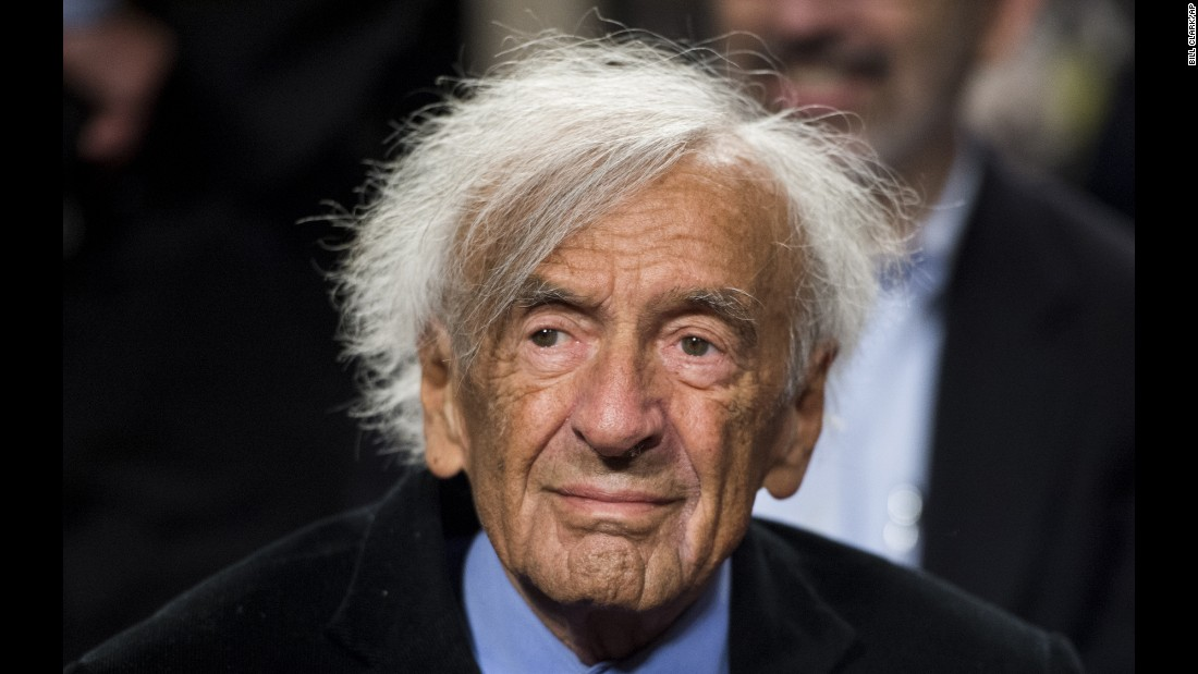 Nobel Peace Prize laureate Elie Wiesel participates in a forum on guarding against a nuclear Iran, on March 2, 2015, in Washington.