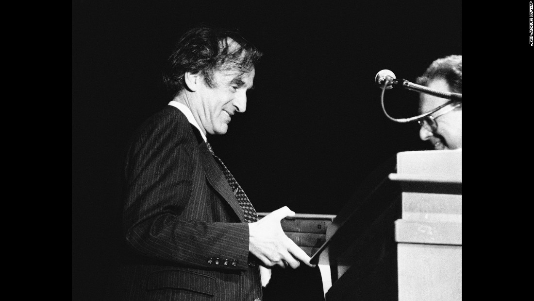 Elie Wiesel is shown after he was awarded top French literary awards in 1968 in Paris.