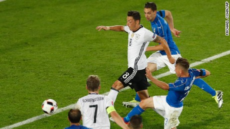 Mesuit Ozil fired Germany ahead in the second half.