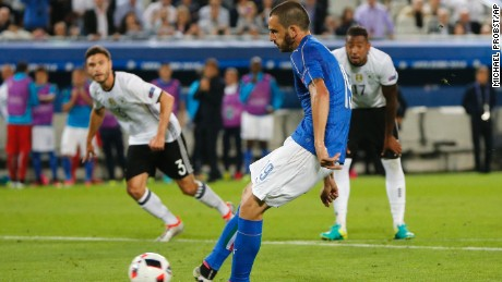 Leonardo Bonucci dragged Italy level from the penalty spot.