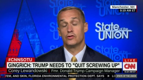 Fmr. Trump Campaign Manager Cory Lewandowski on State of the Union - Full Interview _00013429
