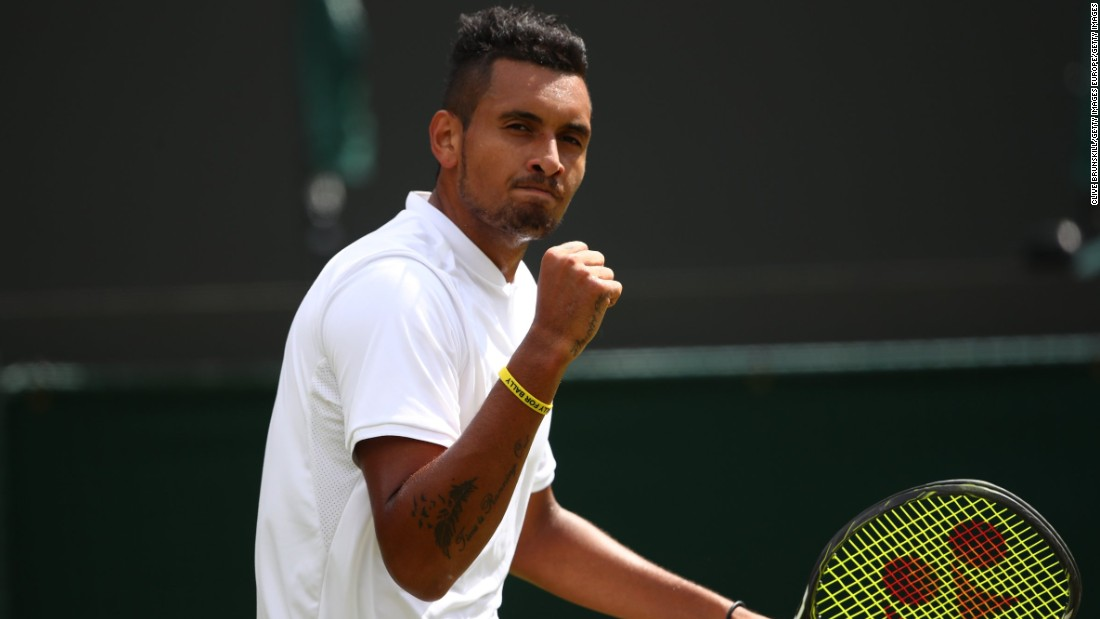 Nick Kyrgios set up a fourth round clash with Andy Murray after seeing off Spain's Feliciano Lopez in four sets. The Australian, seeded 15th, triumphed 6-3 6-7 6-3 6-4.