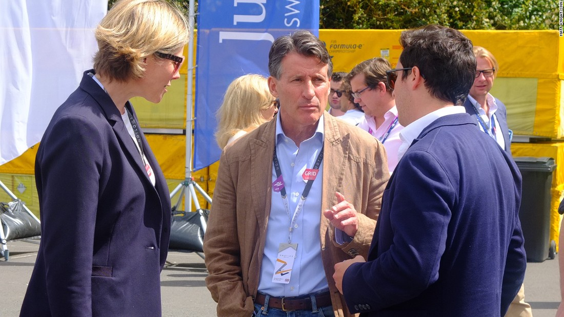 IAAF president Sebastien Coe was among the VIP guests at Sunday's race.