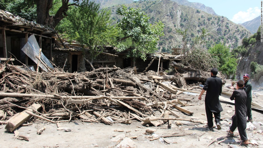 Overnight flash floods killed at least 43 people in northern Pakistan.
