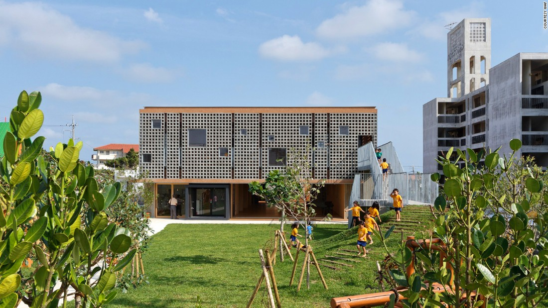 The Hanazono Kindergarten and Nursey in Okinawa, Japan, was designed by Hibinosekkei + Youji no Shiro and has been nominated in the Schools category.