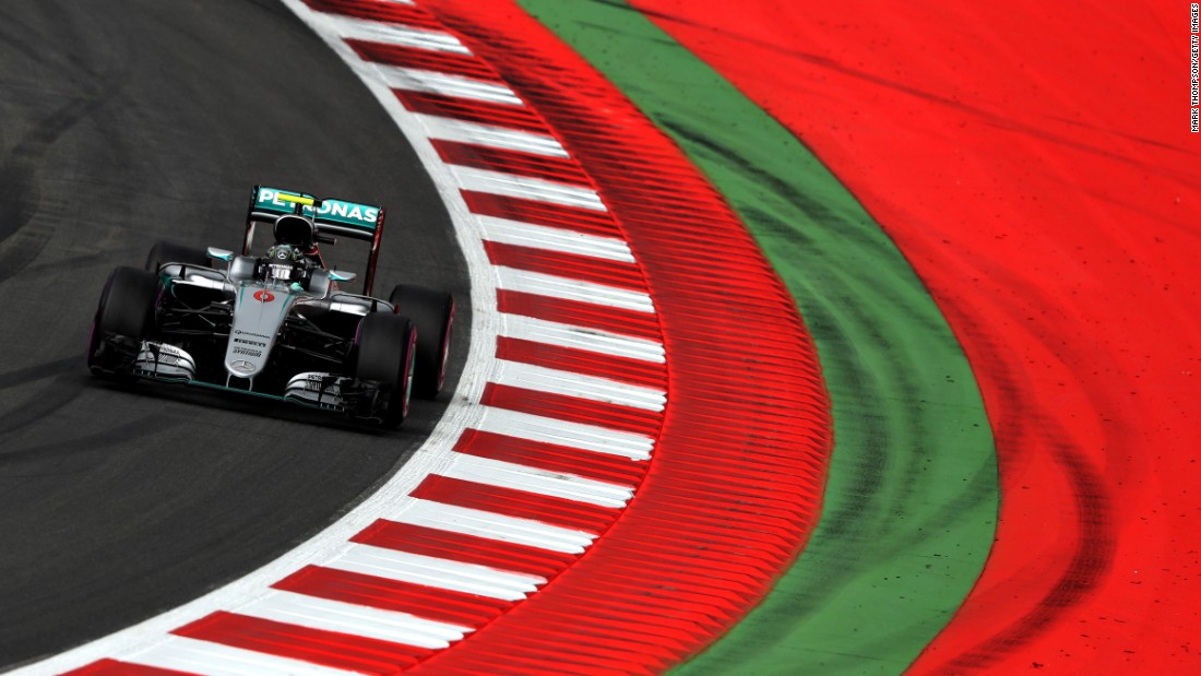 Formula One leader Nico Rosberg practices on Friday, July 1, ahead of the Austrian Grand Prix.