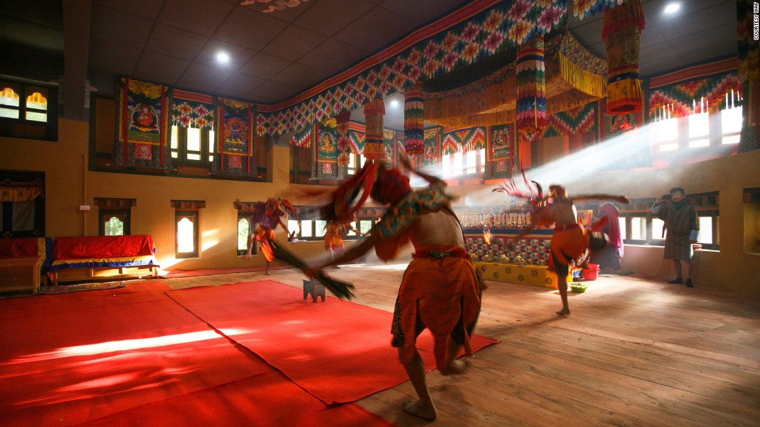 The interior of the Bhutan Happiness Centre in Bumthang, Bhutan, designed by 1+1>2 Architects and nominated in the Civic and Community award at the 2016 World Architecture Festival (Image courtesy WAF).