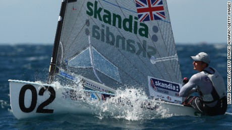 PERTH, AUSTRALIA - DECEMBER 07:  Scott Giles of Great Britain competes in the Finn Yellow fleet on the Leighton Course during day five of the 2011 ISAF Sailing World Championships on December 7, 2011 in Perth, Australia..  (Photo by Mark Dadswell/Getty Images)