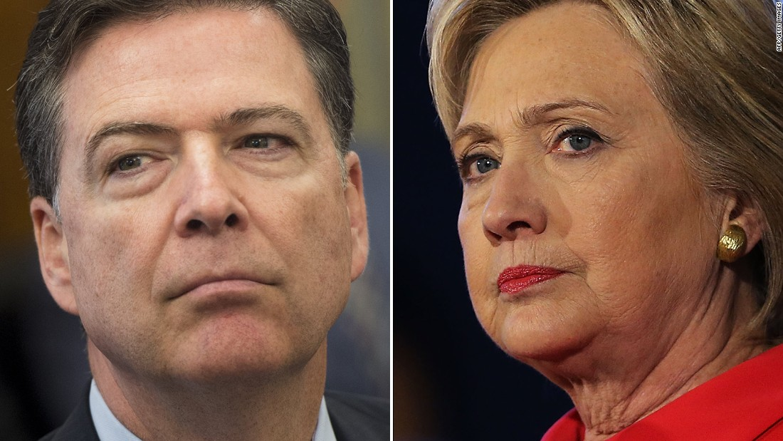 Image result for james comey hillary clinton