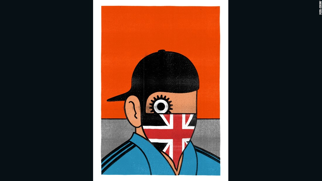 "David Pellam's famous Penguin book cover for Anthony Burgess' ""A Clockwork Orange"" keeps its 1960s pop art feel despite Paul Insect inserting an altogether more modern subject."
