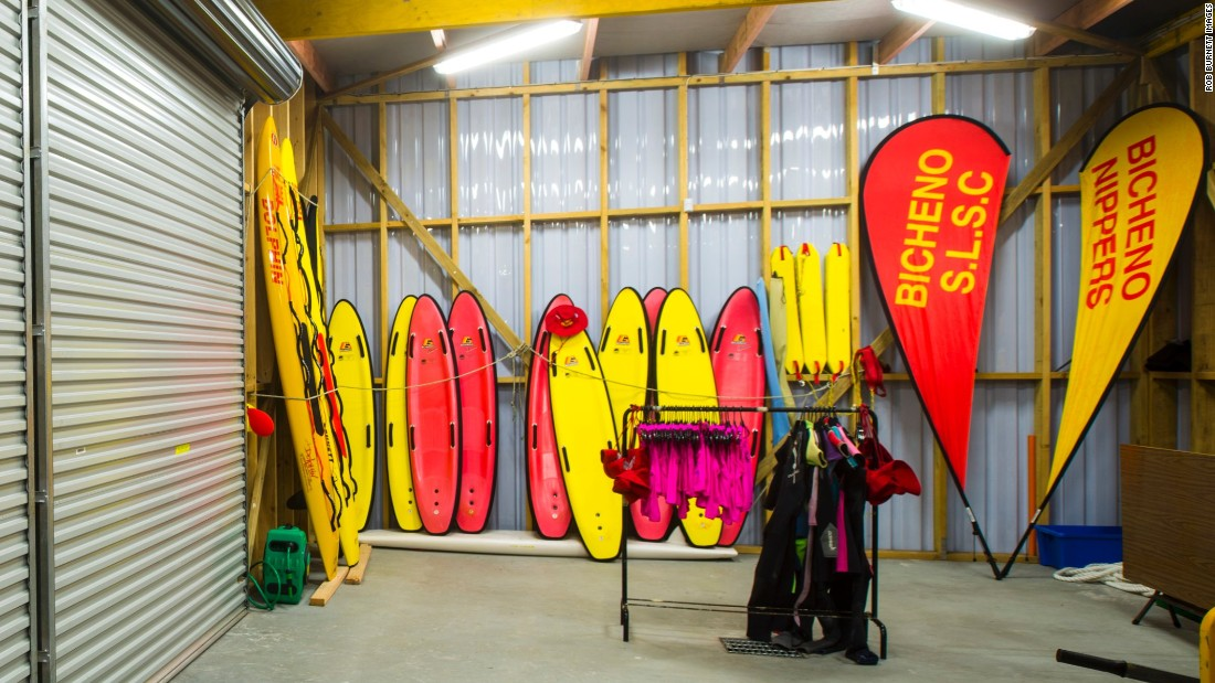 They may occupy prime coastal real estate, but Australian surf clubs need to be practical buildings. Here Bicheno SLSC stores the equipment the club's life savers use to rescue distressed swimmers from the water and train young 'Nippers' in surf life saving skills.
