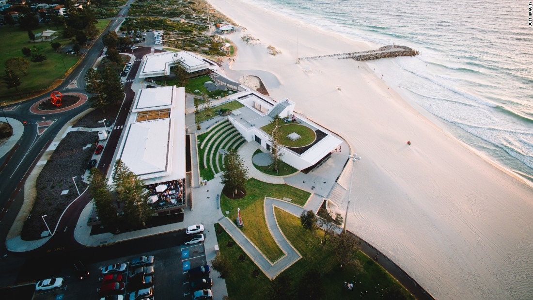 """City Beach Surf Club is located on a breathtaking coastline. Clear blue water matched by stunning skies. The architecture of clean lines responds to the characteristics of the breathtaking coastline,"" says James Christou, the architect who lead the club's design and managing director of Christou Design Group."
