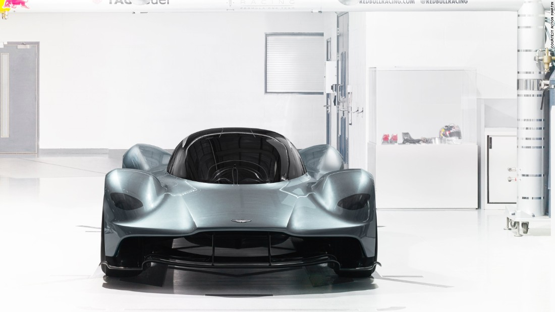 Aston's chief designer, Marek Reichman, has incorporated some known Aston Martin styling cues into the front of the car -- specifically the shape at the front edge of the bonnet and hood.<br />