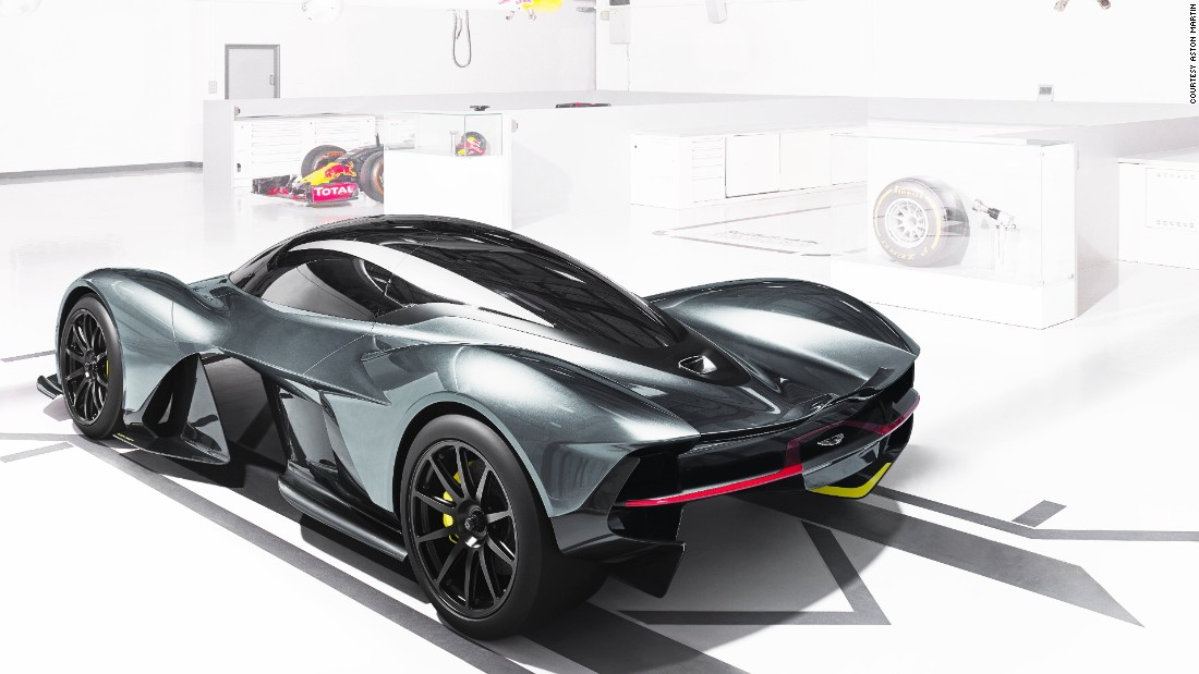 The complex bodywork surfacing on the AM-RB 001 is likely to create a lot of downforce to help increase the car's cornering speeds.