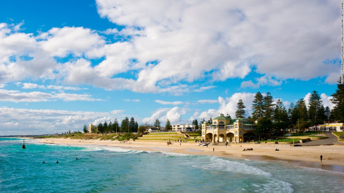 This beautiful clubhouse, on Cottesloe Beach in Perth, was established in 1909 and is Western Australia's oldest surf life saving club.