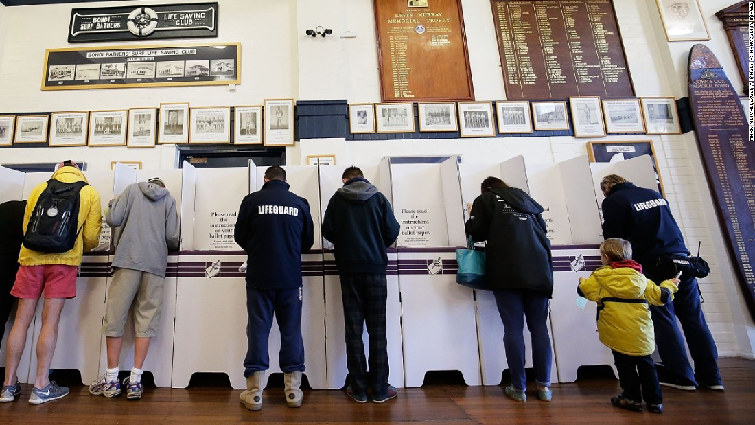Surf clubs provide a broad range of services to the local community, from beach patrols to a place to gather with friends for a meal or a drink -- and occasionally a place to cast your vote, as seen here during the Australian federal election in 2016.