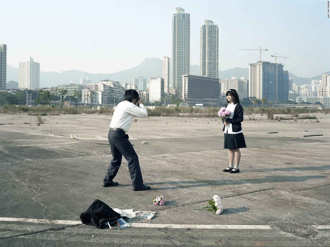 "Hong Kong photographer Lau Chi-Chung's conceptual series ""After School"" is about the gap between the city's education system and the real lives of its students. Growing up in Hong Kong, ""the teacher was the authority,"" says Lau. ""But after leaving school we've taken years to realize that much of what we might've learned is wrong."""
