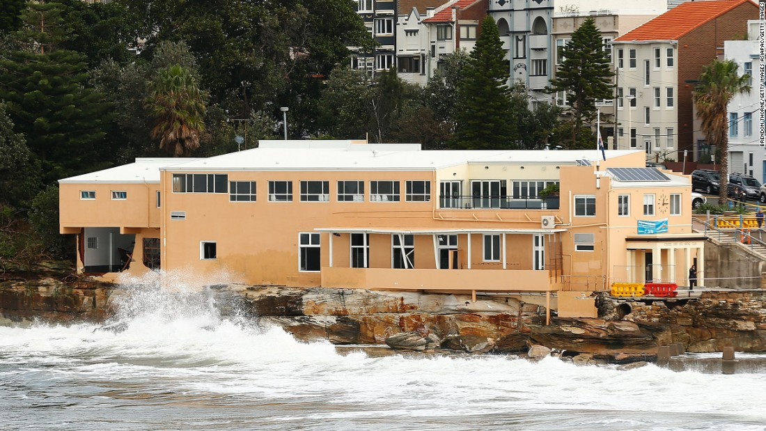 Many of Australia's surf life saving clubs are showing signs of wear and tear from the constant exposure to the elements. A huge wave that hit the eastern side of the Coogee Surf Life Saving Club during the June storm tore a hole in the wall and smashed windows.