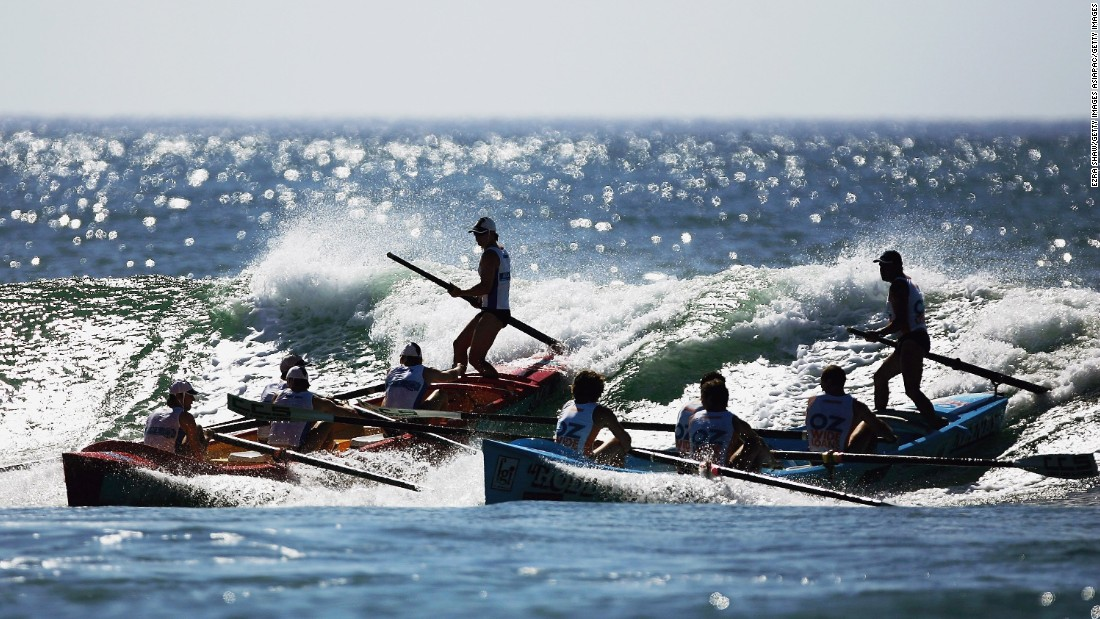"Many of Australia's surf clubs have <a href=""http://www.asrl.com.au"" target=""_blank"">surf boat rowing</a> teams, a highly dangerous sport that originated with the vessels that were used to rescue swimmers before the introduction of motorboats."