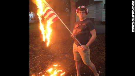 "Bryton Mellott said on Facebook that he believes ""blind nationalism is a corrosive thing."""