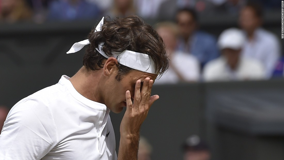 After losing the first set on a tie-break to the Croatian, Federer's customary grace evaded him in a second set fraught with errors.