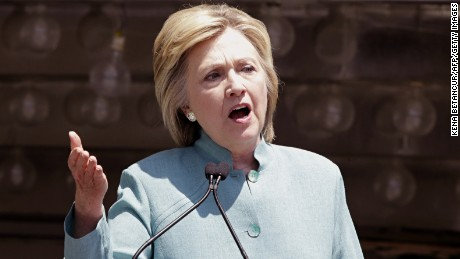 Democratic presidential candidate Hillary Clinton speaks during a event in Atlantic City, New Jersey on July 6 2016. / AFP / KENA BETANCUR        (Photo credit should read KENA BETANCUR/AFP/Getty Images)