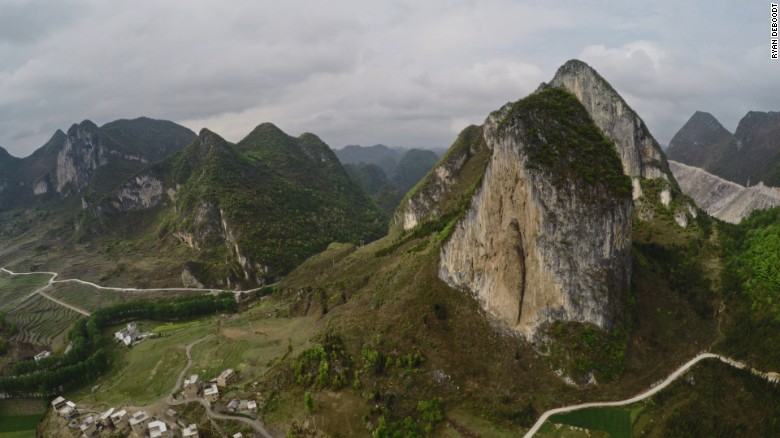A drone view of China's stunning karst landscape