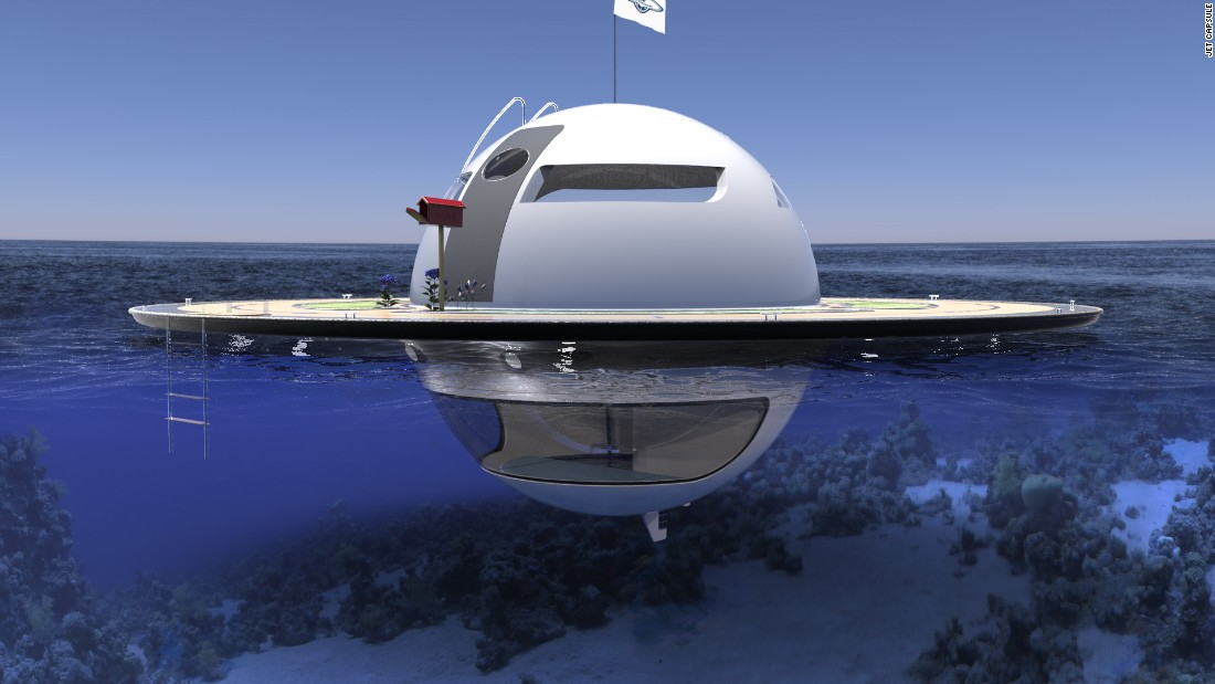 The UFO is completely self-sustaining, incorporating innovative features like a water generator that turns salt water and rain into potable water. The mobile home also has solar panels and optional water turbines to power the battery.